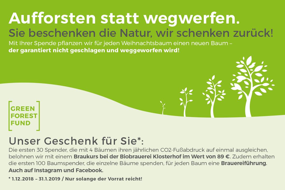 Aufforsten Statt Wegwerfen Green Forest Fund