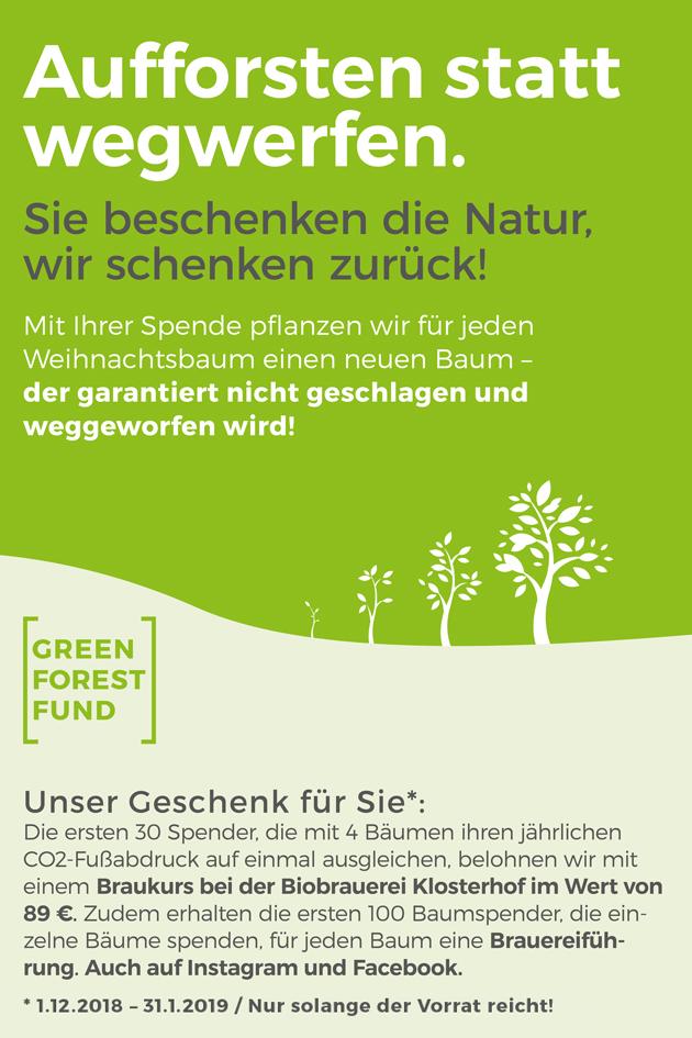 Tannenbaum Wegwerfen.Aufforsten Statt Wegwerfen Green Forest Fund